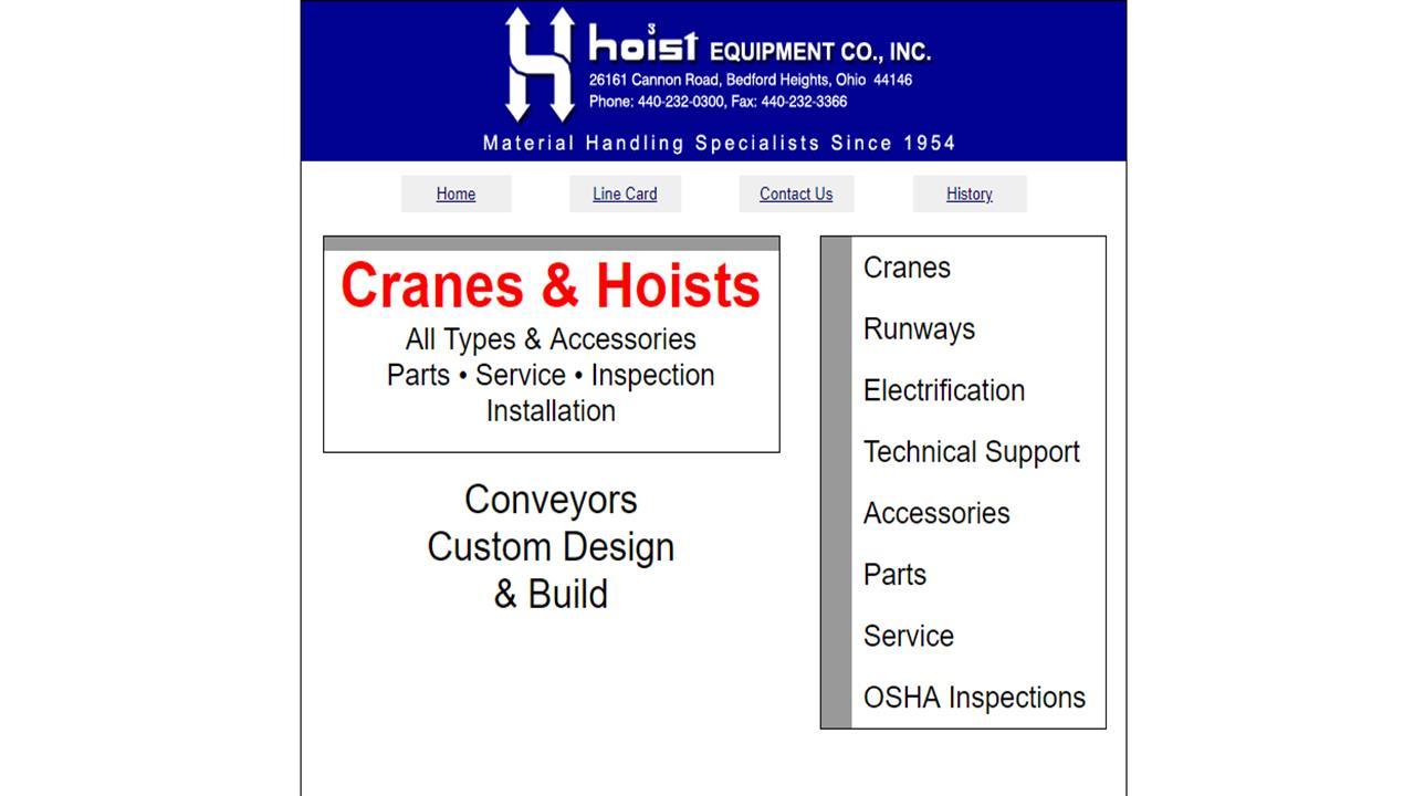 Hoist Equipment Co., Inc.