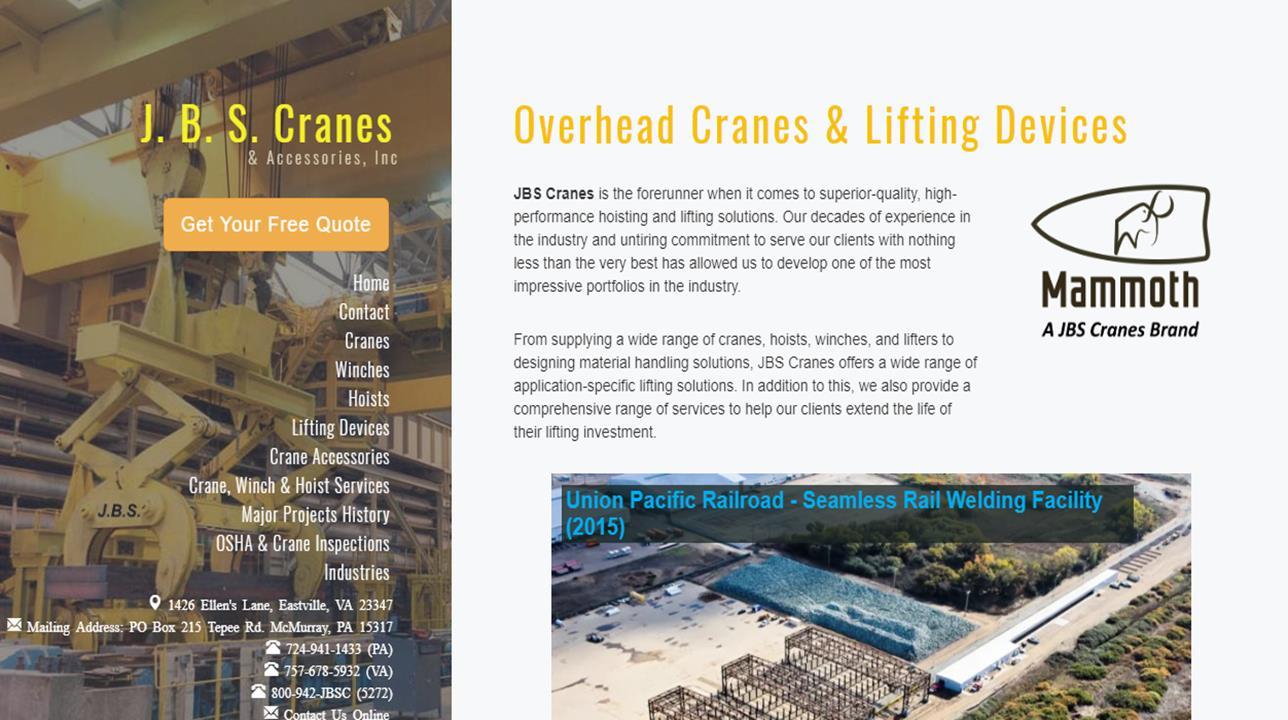 J B S  Cranes & Accessories | Crane Manufacturers